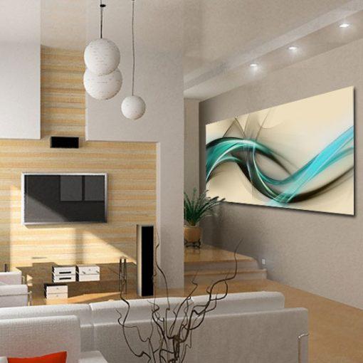 salonowy obraz z abstrakcją