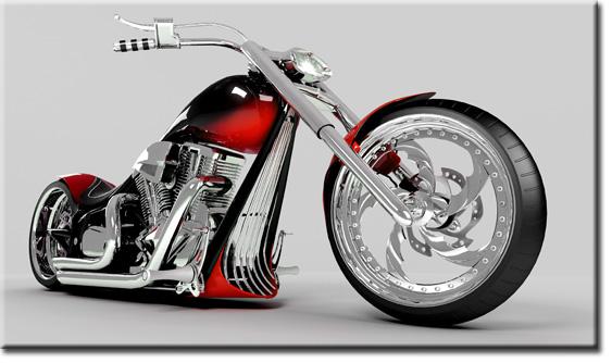 czerwony motor jako obraz