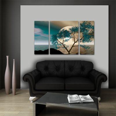 pokojowy obraz z drzewem