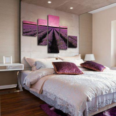 fioletowy obraz z lawendą