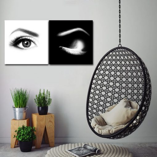 oczy kobiety jako dyptyk do salonu