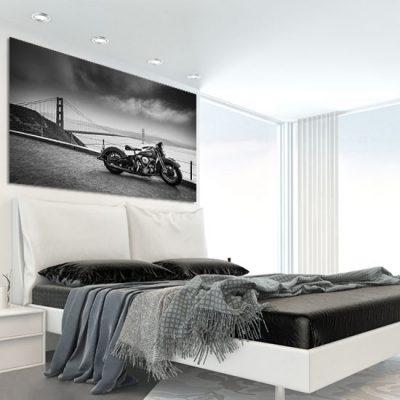 obraz motyoryzacyjny w sypialni