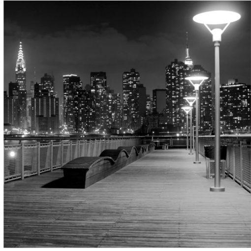 fototapeta z widokiem na dzielnicę NY