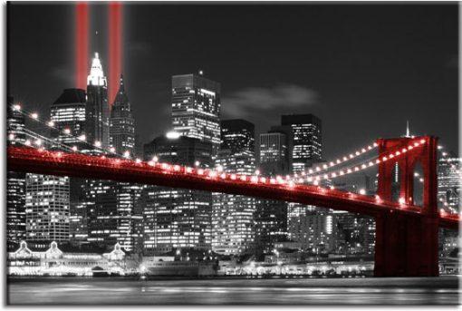 czarne tło NY na fototapecie