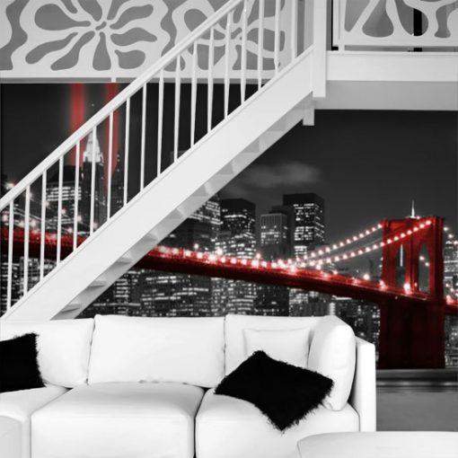 czerwony most brukliński na tapecie