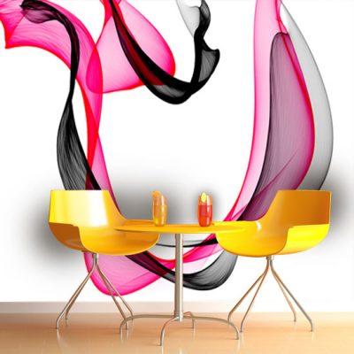 abstrakcja różowo-czarna