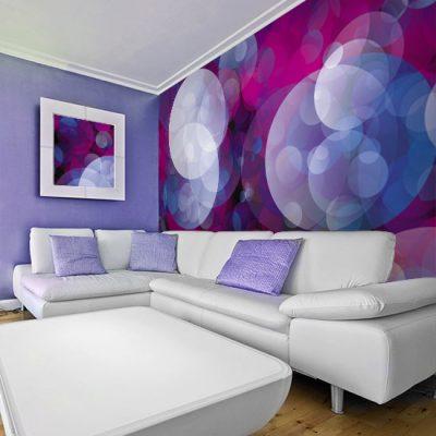 tapeta z kolorowymi kółkami