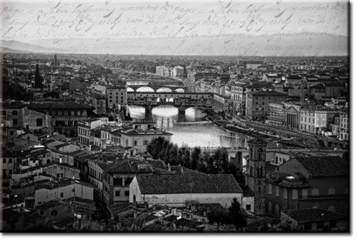 biało-czarna tapeta z Florencją