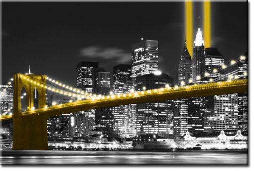 tapeta z motywem panoramy NY i mostem