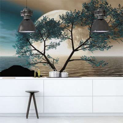 kuchenna fototapeta z drzewem