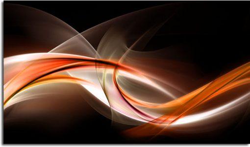 abstrakcja na obrazie brązowo-pomarańczowym