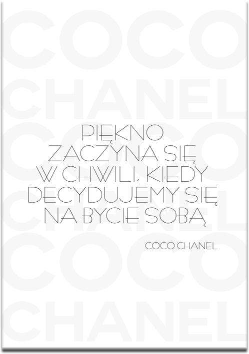 plakat z cytatem chanel