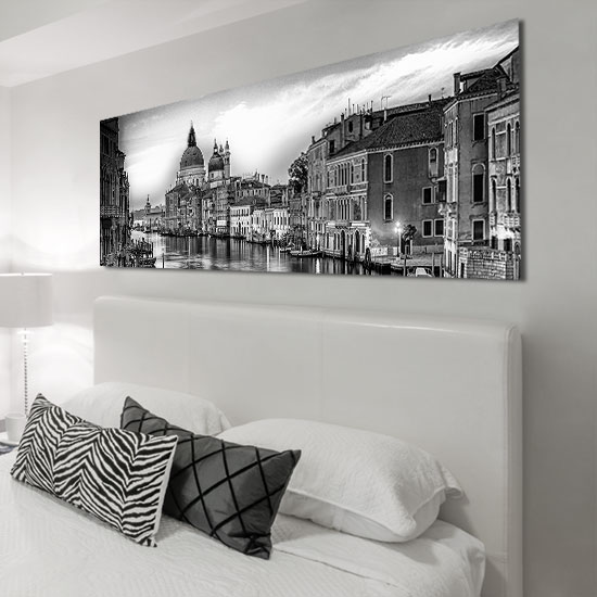 Obraz Czarno Biała Panorama Wenecji