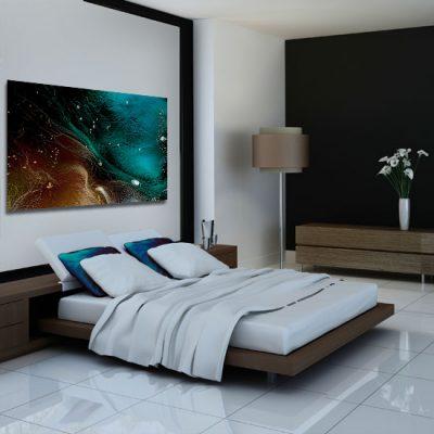abstrakcyjny obraz nad łóżko