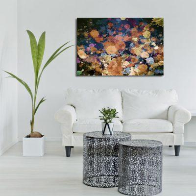 abstrakcja obrazowa z plamami