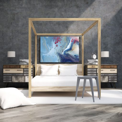 wodny i abstrakcyjny obraz
