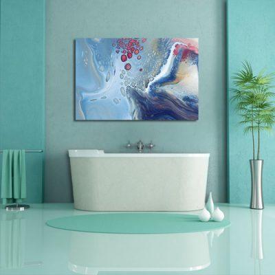 abstrakcja wodna w łazience