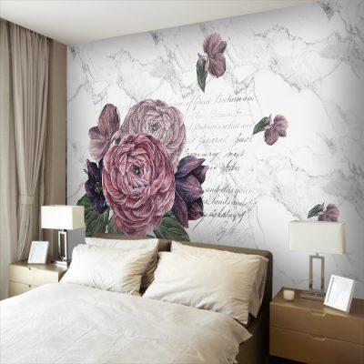 tapeta z motywem kwiatowym