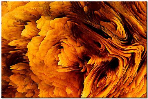 abstrakcja pomarańczowa na obrazie