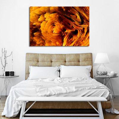 obraz abstrakcyjny pomarańczowy