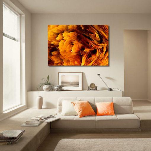 obraz w salonie jako abstrakcja