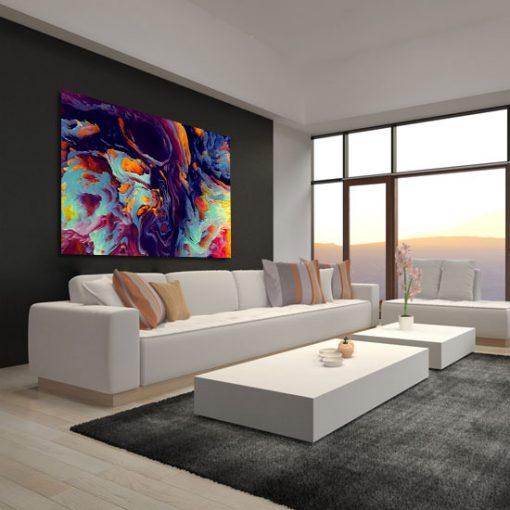 abstrakcyjny obrazek na ścianie nowoczesnej