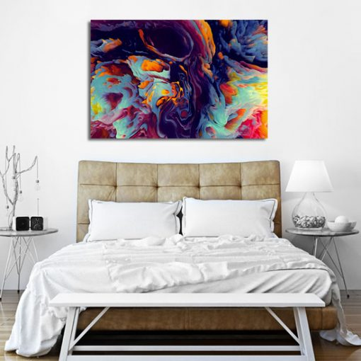 obrazek nad łóżkiem - abstrajkcja