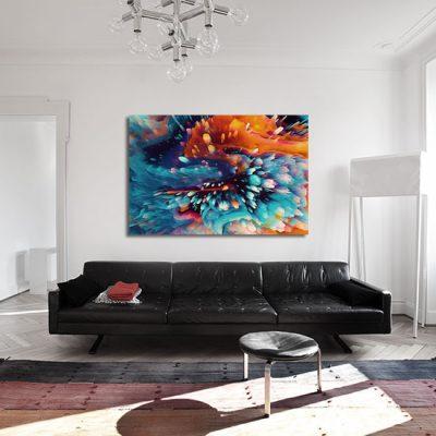 obraz w pokoju abstrakcja