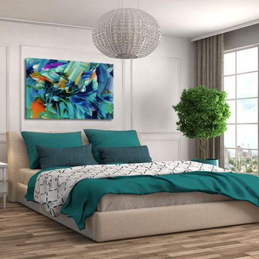 wspaniały obraz w sypialni