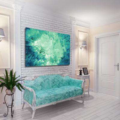 dodatek abstrakcyjny w salonie