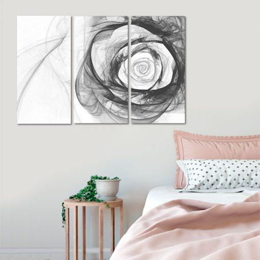 czarna róża jako tryptyk