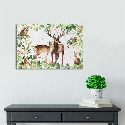 obraz dzikich zwierząt w twoim salonie