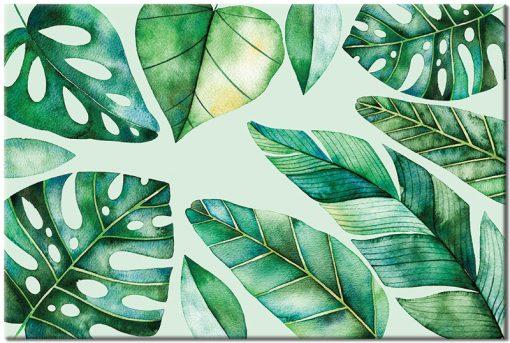 tropikalne liście jako obraz