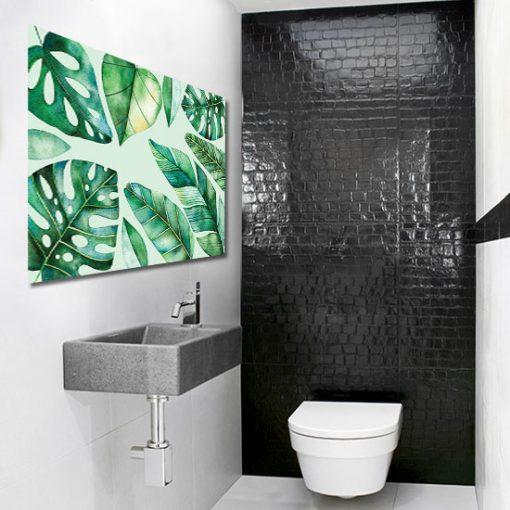 tropikalny obraz do łazienki