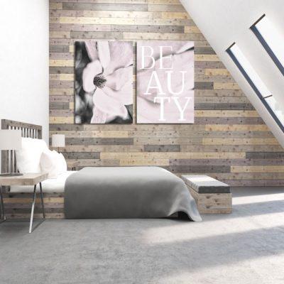 dekoracja do sypialni jako dyptyk