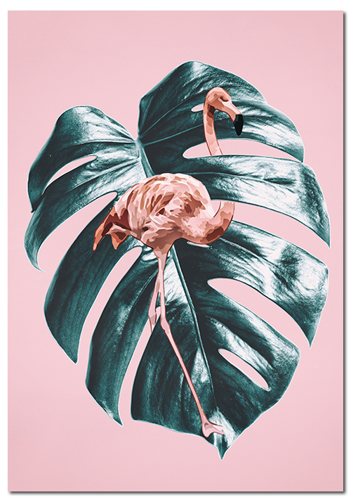 różowy obraz tropikalny