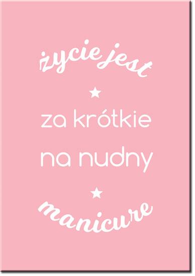 napis o manicure na plakacie