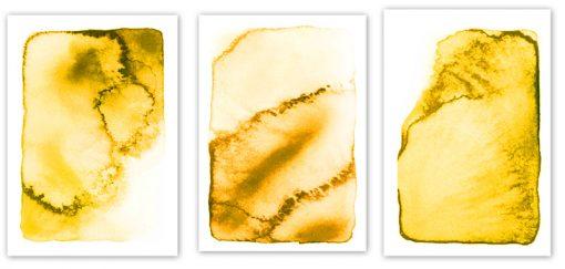 tryptyk z żółtymi prostokatami