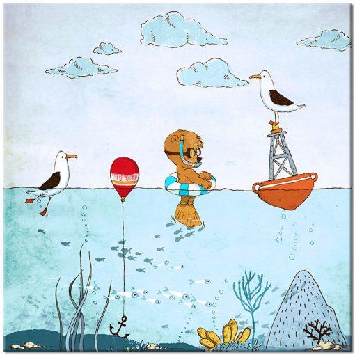 wodne zwierzęta na plakacie