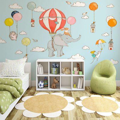 tapetowa dekoracja pokoju