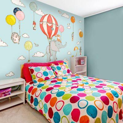 kolorowa tapeta dla dziecka