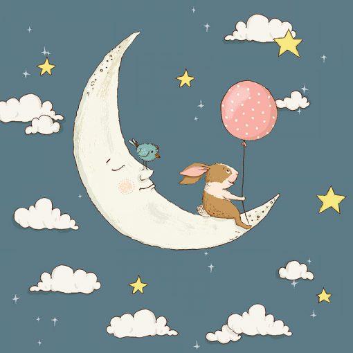 kwadratowy księżyc jako tapeta