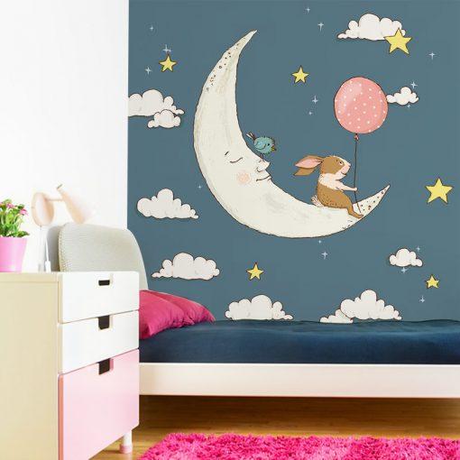 tapeta ze śpiącym księżycem