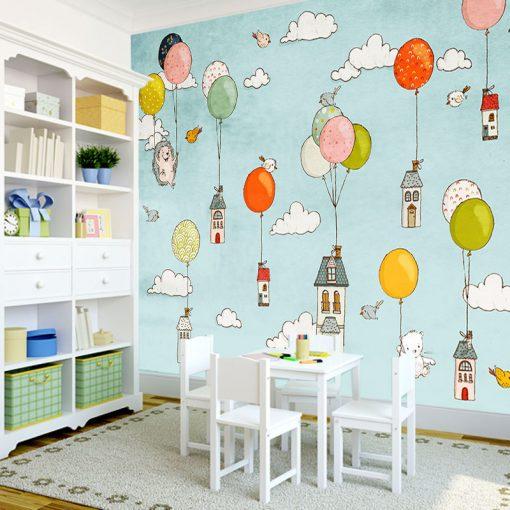 domki na tapecie dla dziecka