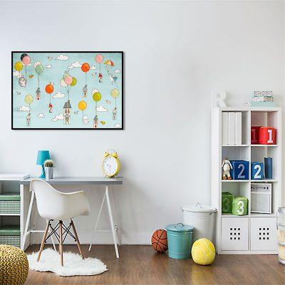 czarna ramka i plakat dla dziecka