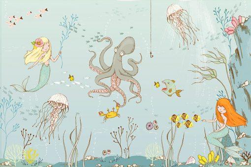 morskie zwierzęta i syrenki