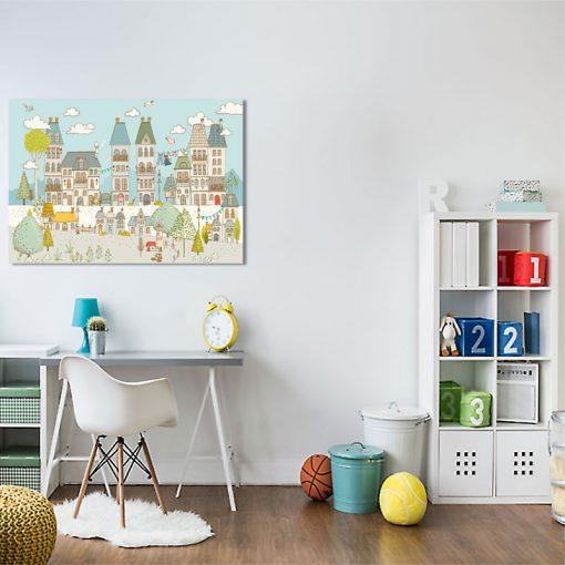 plakat z domkami dla dziecka