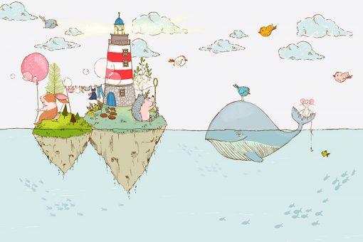 wysepki dwie ze zwierzakami morskimi