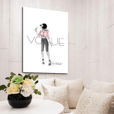 modny plakat z napisem vogue