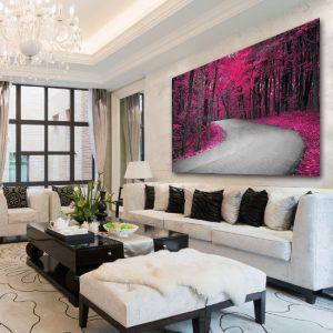 Obrazy różowe i fioletowe